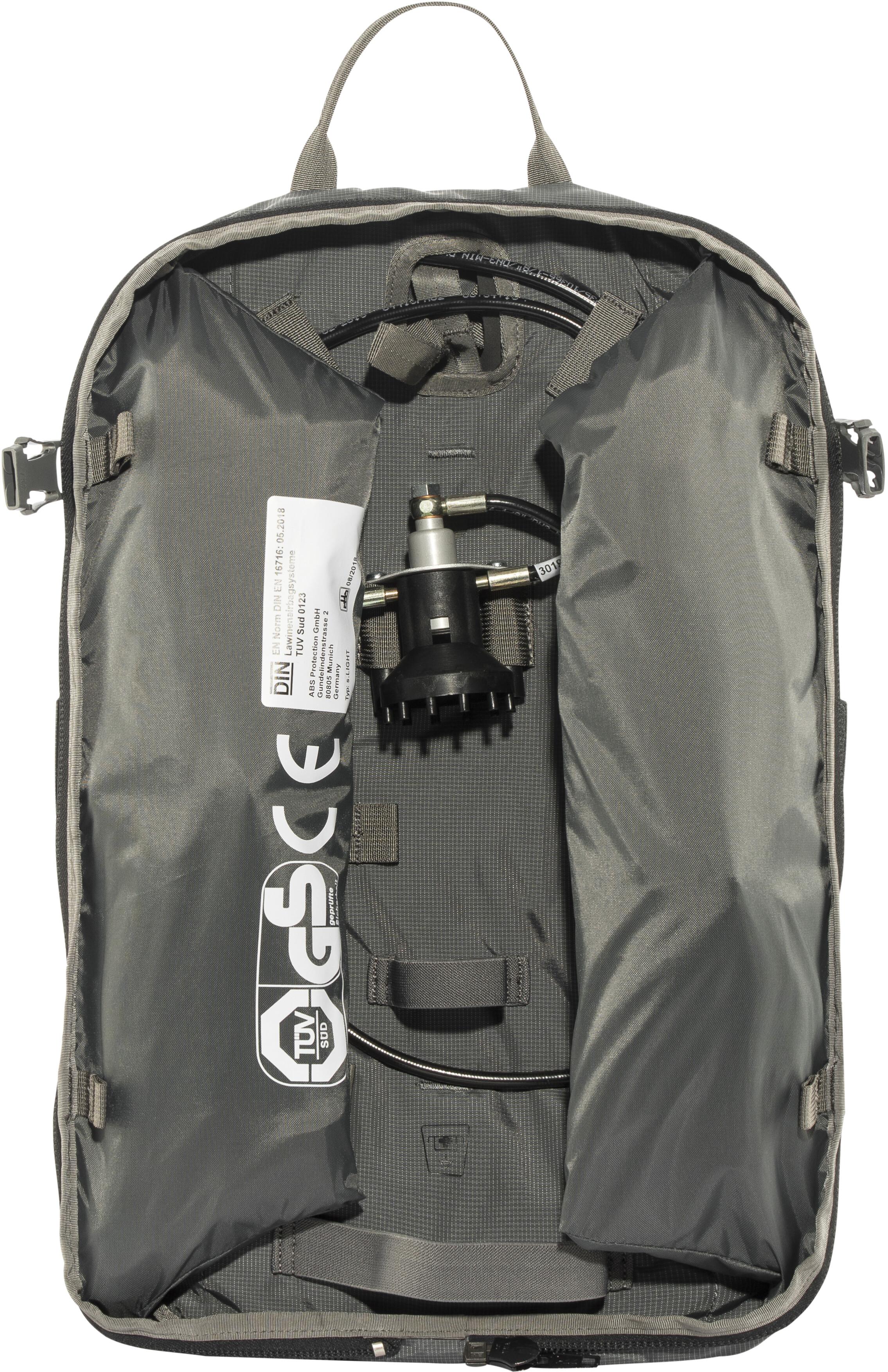 ddc1aad1ad ABS s.LIGHT Compact Zaino airbag senza unità di sblocco grigio su ...